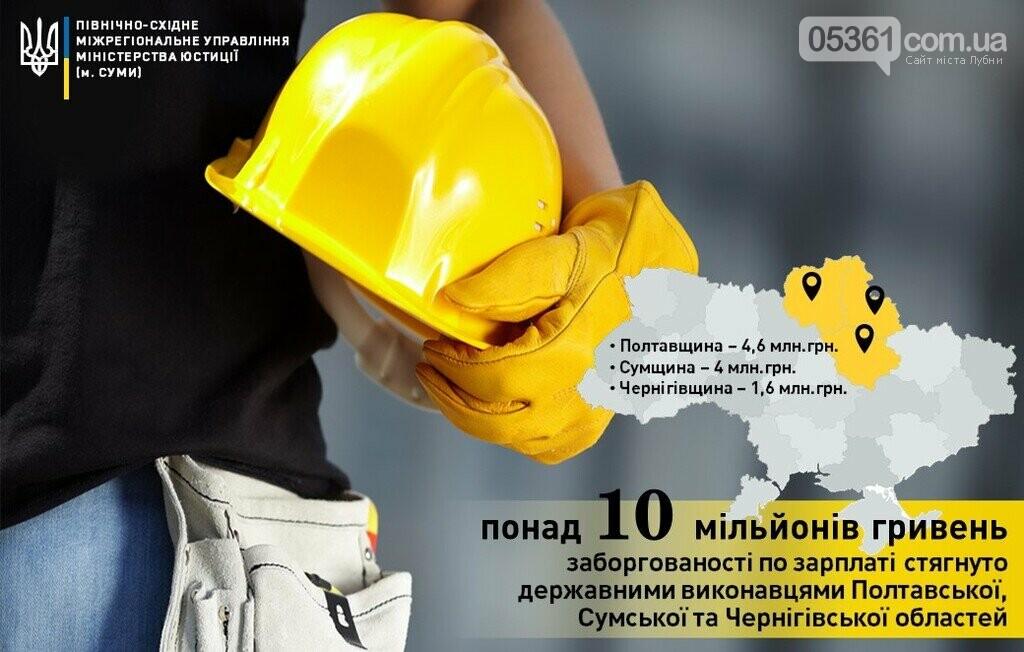 На Полтавщині державні виконавці стягнули 4,6 млн грн боргів по зарплаті, фото-1