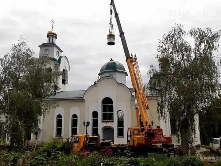 На лубенській церкві встановили п'ятий купол , фото-1