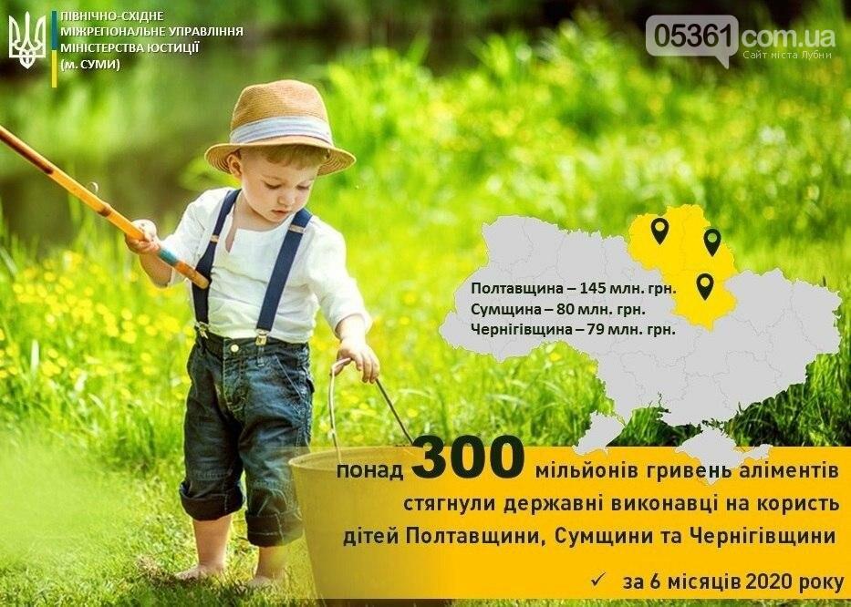 Понад 145 мільйонів гривень аліментів – результат піврічної роботи державних виконавців Полтавщини, фото-1