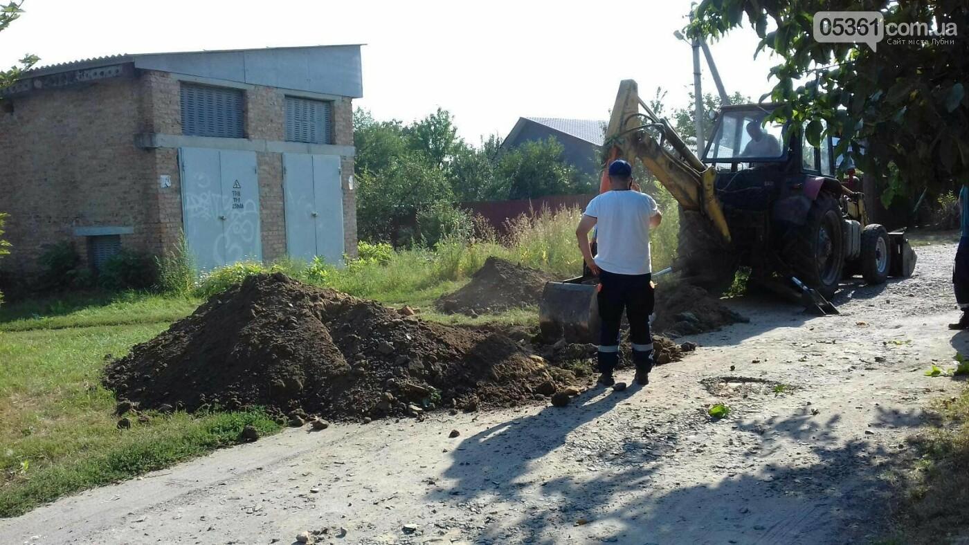 Пошкодження високовольтного кабелю в Лубнах, фото-1